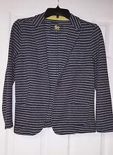Women's Striped Cotton Blazer Jacket Size Small