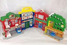 Fisher Price Little People Learn About Town Village School Dentist Folding Toy