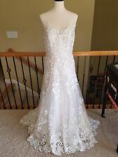 NEW $2675 Watters Dame 2074B Ivory Oyster Lace Wedding Dress Size 14