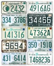 *99 CENT SALE*  New Hampshire License Plate LOT OF 10 Mixed 1959-2015 No Reserve