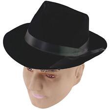 # gangster noir Flockée chapeau déguisement