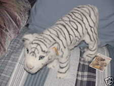 "16"" Steiff Schadah White Tiger 2005 New M/W/Tags 066320"