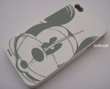 iPhone 4 4G 4S - SOFT SILICONE RUBBER SKIN CASE COVER Disney Mickey Mouse Grey