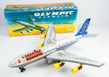 VINTAGE RARE TIN Toy Airplane Olympic Airways ONASSIS GREEK ANANIADIS BOEING 707
