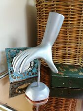 1950s SHOP DISPLAY HAND for GLOVES SILVER ORIGINAL GOOD CONDITION UNUSUAL