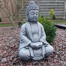 Stein BUDDHA Feng-Shui Shiva Steinfigur massiv Skulptur Garten Deko Frostfrei AA