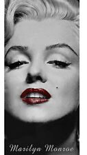 Marilyn Monroe Red Lips Cotton Velour Beach Towel 28 X 58 in.
