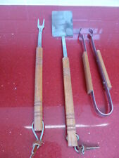 BBQ TOOLS SET,FORK,TONGS,SLICE,GARDEN,PATIO,CAMPING