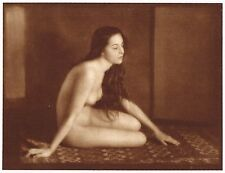 1920s Vintage Romanian Gypsy Female Nude Hoppe Art Deco Photo Gravure Print