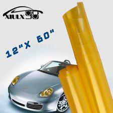"12"" x 60"" Gold Yellow Car Truck Headlight Tail Light Tint Vinyl Film Cover Sheet"