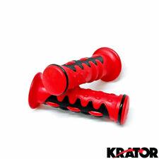 HONDA XR 50 70 80 100 250 350 400 CR 500 GEL HAND GRIPS Red RUBBER HANDGRIPS