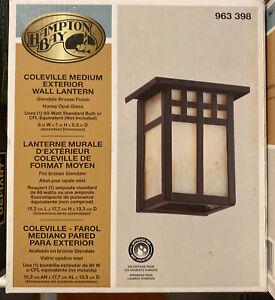 HAMPTON BAY Coleville Medium Exterior Bronze Wall Lantern