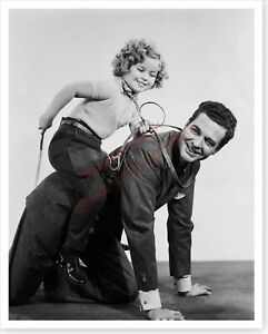 Actress Shirley Temple With Michael Whalen Publicity Silver Halide Photo