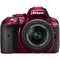 Nikon D5300 DX-Format Digital SLR Kit w/ 18-55mm DX VR II Lens - Red