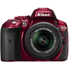 Nikon D5300 DX-Format Digital SLR Kit w/ 18-55mm DX VR II Lens - Red