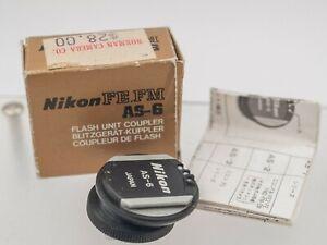 Boxed - Nikon AS-6 SLR Camera Flash Hot Shoe Accessory Mount F3 FM FA FE2