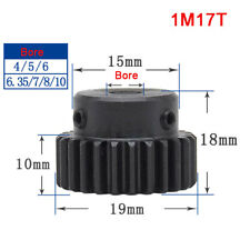 1 Mod 17T Precision Spur Gear,With Step Motor Pinion Transmission Gear 45# Steel