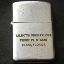 Vintage TALBOT'S USED TRUCKS Miami FL Lighter