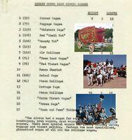 Disneyland 1955 Manuscript Walt Disney Mickey Mouse Club Circus Wagons Inventory