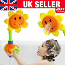 Baby Bath Toy Children Sunflower Spray Water Shower Tub Faucet Kids Bathroom UK