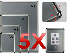 5 X A1  Snap Poster Holders/ Picture Frames / Aluminium Frames / Sign Holders