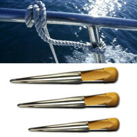 175/280/380mm Stainless Steel Splicing Spike Fid Swedish Rope w/ Wooden Handle