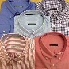 Ex M&S PURE COTTON OXFORD Button Down Mens Shirt Long Sleeve Stripe check plain
