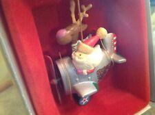 "Enesco 1982 ""Flying Santa-Christmas Special"" vintage ornament. Excellent cond."