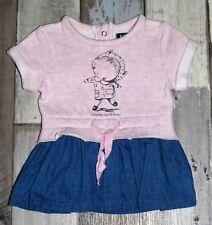 KIABI ~ Superbe Robe bleu et rose fille 1 mois - 52 à 55cm ~