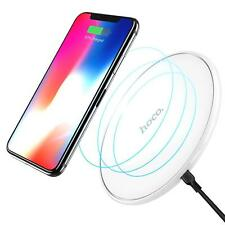 iPhone Samsung Ladegerät Qi Schnell Ladestation Wireless Fast Charger in WEISS