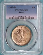 1935-D MS-66 Texas Independence Centennial Commemorative Half 10,007 Minted