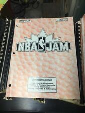 Midway NBA JAM Operations Arcade Video Game Manual- good original