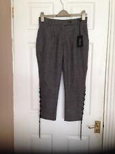 Patrizia Pepe Firenze Ladies Grey Tweed Crop Trousers BNWT Size 12/40 RRP £215