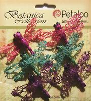 Glittered DRAGONFLY 6 Pack - 32x55mm BRIGHTS-Fuchsia Teal Purple BotanicaPetaloo