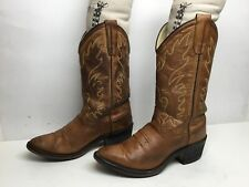 VTG YOUNG GIRLS  OLD WEST COWBOY BROWN BOOTS SIZE 4.5