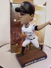 Jorge De La Rosa Bobblehead Colorado Rockies VS. NY Mets August 23 2015 NIB