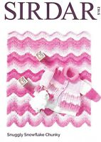 Sirdar Chunky Knitting Pattern 5162, Baby Coat and Blanket for 0 to 3 Years