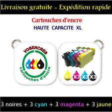 3 9 Cartouches Non-oem pour Epson Sx425w T1281/1282... avec puces
