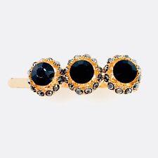 Magnet Hair Clip Hairpin  Rhinestone Crystal Barrette Elegant Jeweled Black 28