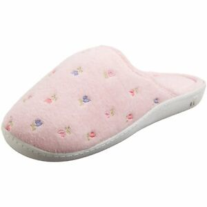 ISOTONER Women's Embroidered Clog,, Pink, Size 9.5