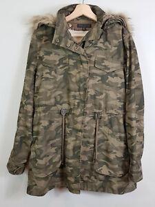 FOREVER NEW | Womens Camo Parka coat / Jacket [ Size AU 10 or US 6 ]