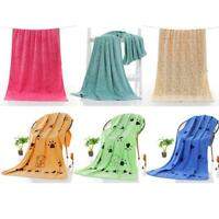 Pet Cat Dog Towel Drying Grooming Microfiber Bath Cleaning UP Towels Supplies AU