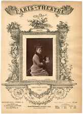 Lemercier, Paris-Théâtre, Marguerite Donvé, actrice Vintage Albumen Print Tira