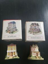 The Americana Collection 2 vintage miniature buildings 1994 by Liberty Falls
