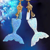 Mermaid Fish Scale Charm Pendant Key Chain Handbag Car Keyring Jewelry Gift JX