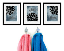 Relax Soak Unwind Bathroom Wall Art