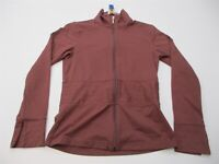LUCY Jacket Women's Size S Active Running Training Full Zip Long Sleeve Brown