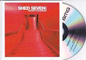 SHED SEVEN INSTANT PLEASURES < > RARE 12 TRACK PROMO CD - GRAB A BARGAIN!