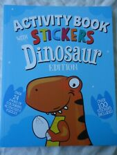 DINOSAUR STICKER ACTIVITY BOOK - LARGE GOOD QUALITY BOOK WITH OVER 100 STICKERS