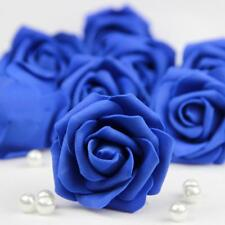 20 Foam Heads Artificial Roses Flowers Party Wedding Home Floral Decor Dark Blue